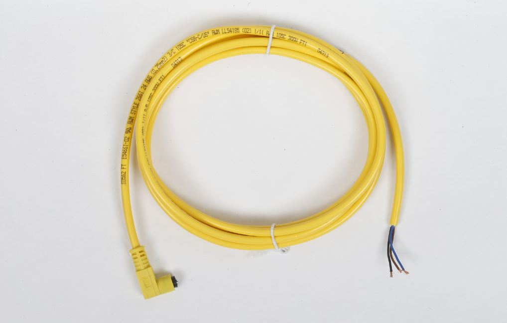 Yellow Cable Battery Adaptor Push On